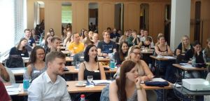 Participants of the 2018 Fulbright Summer Institutes participating in a presentation during the June orientation meeting in Berlin.