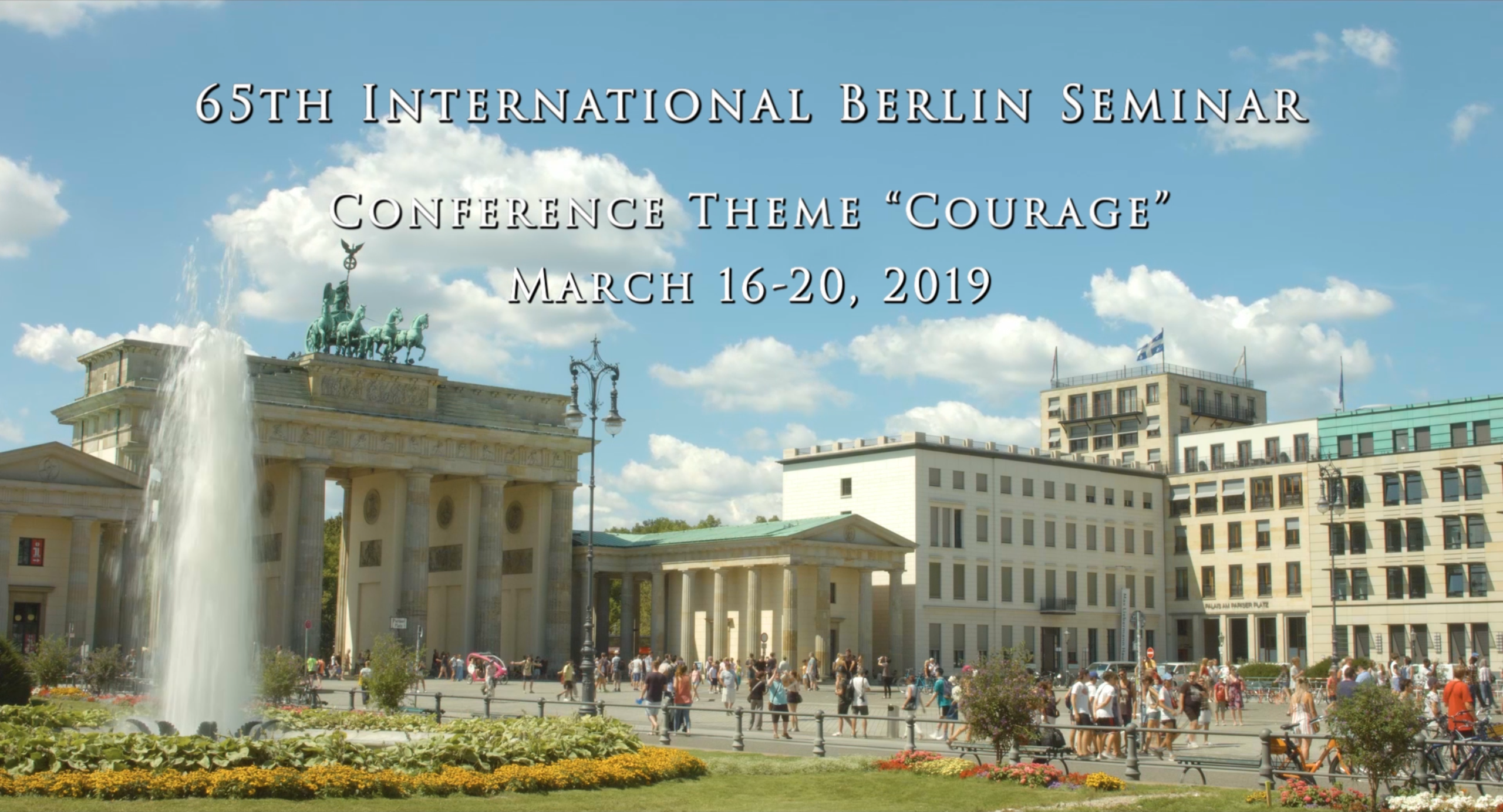 Short film about this year's Berlin Seminar now online